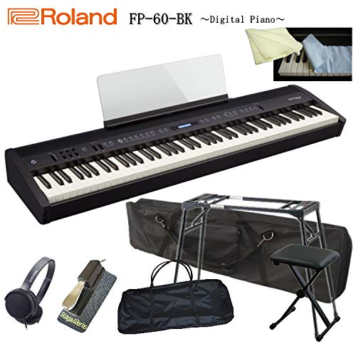 【2019春夏新作】 ローランド 電子ピアノ FP-60 FP-60 ブラック 電子ピアノ/Roland【テーブル型スタンド/本体&スタンドケース/ペダル B07PBR238D/滑り止め/ヘッドフォン/キーボード椅子/キーカバー&クロス付き】 B07PBR238D, broadstage ブロードステージ:9d6e4a10 --- adornedu.com