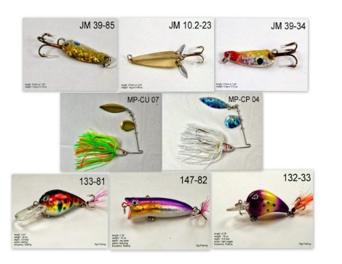 Akuna [IN] Pros' pick recommendation collection of lures for Bass, Panfish, Trout, Pike and Walleye fishing in Indiana(Pan Fish 8-A)
