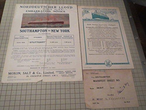 Lot of (3) Norddeutscher Lloyd Bremen Liner