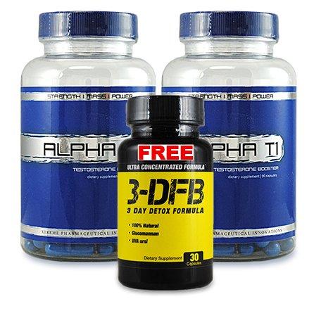 Alpha T1 Pack 2 et 1 gratuit 3 DFB - Booster de testostérone - Supplément de booster de testostérone - Le meilleur métabolisme Booster