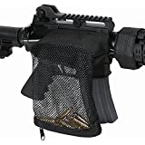 Outdoor Sports Gear Ammo Brass Shell Catcher Mesh Trap w/ Zippered Closure for Quick Unload
