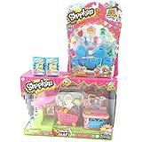 Bundle - 4 Items: Shopkins Supermarket Playset, Shopkins 12 Pack, (2) 2 Shopkins Basket by Moose