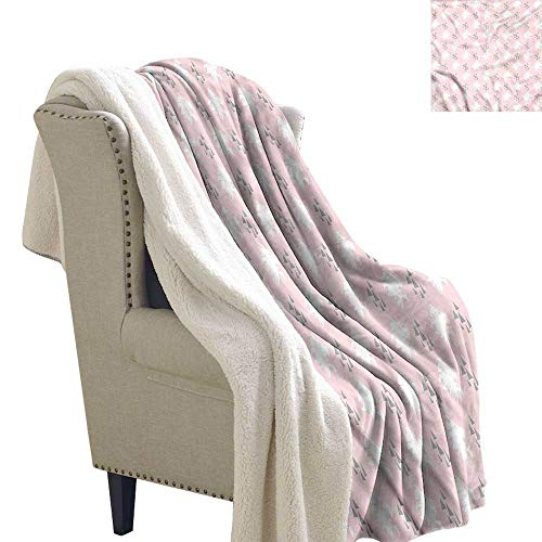 (Beihai1Sun Lion Light Thermal Blanket Roaring Lion Head Silhouette Warm Blanket 60x78 Inch)
