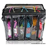 Premium Knitting Bag - Stylish, Durable & Portable Yarn Organizer for Knitting & Crocheting (Black Tote Style)