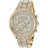 Michael Kors Women's Runway Quartz Watch with Stainless-Steel-Plated Strap, Gold, 19.5 (Model: MK6634)