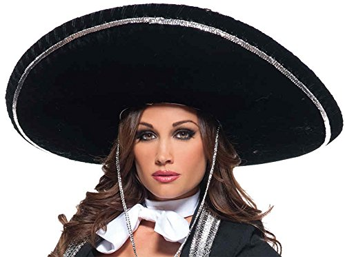 [UHC Adult Mariachi Sombrero Hat Mexican Hispanic Adult Costume Accessory] (Hispanic Halloween Costumes)