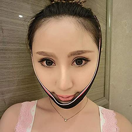 Kdrirad Adelgazante Facial Vendajes de Cara Mascarilla for Reducir la Barbilla Doble y Piel Reafirmante Shape V Line for Regalo de Las Se/ñoras Color : Pink