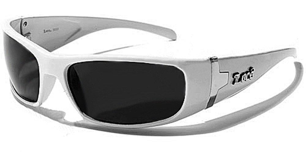 Locs Lunettes de Soleil - Ville - Moto - Sport - Mode - Fashion - Conduite - Plage / Mod. Fuel Blanc WH