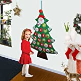 Aytai Felt Christmas Tree Advent Calendar, Wall Hanging Calendars Xmas Gift for Christmas Decorations