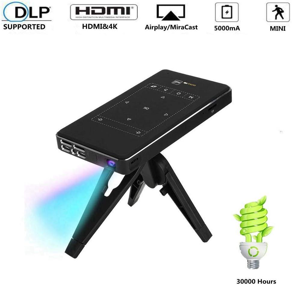 Lecxin Proyector 4K, Mini proyector portátil Inteligente DLP 4K ...
