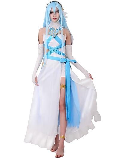 Miccostumes Womens Fire Emblem Fates birthright Singer White Azura Cosplay Costume (WXL)