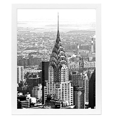 Americanflat 16x20 inch White Poster Frame | Polished Plexiglass. Hanging Hardware Included!