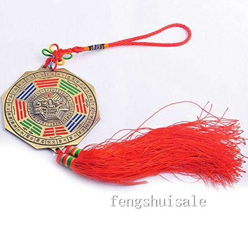 Feng Shui Ying Yang Bagua Mirror Charm Amulet+ Free Fengshuisale Red String Bracelet Y1286
