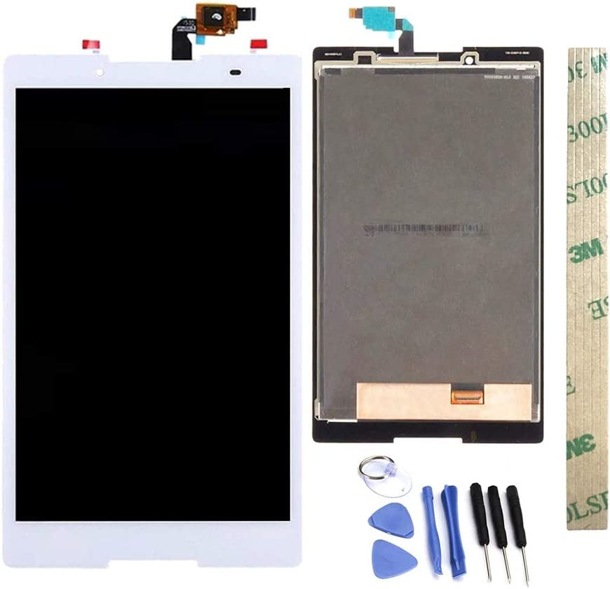 Dr.Chans LCD Display Screen Touch Digitizer Assembly Replacement with Free Tools for Lenovo Tab 3 850 TB3-850 TB3-850F TB3-850M White