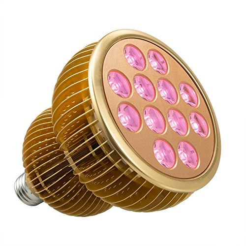 LED Grow Light Bulb, TaoTronics Full Spectrum Grow Lights for Indoor Plants, Grow Lamp, Plant Lights for Hydroponics, Organic Soil (36W, All Wavelengths, FREE E26 Socket)