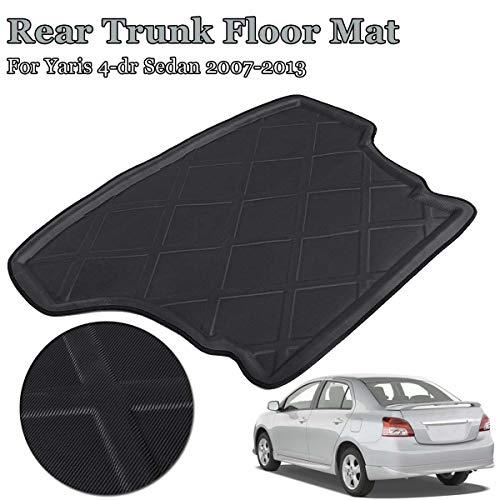 Car Cargo Rear Trunk Mat Cover Floor Carpet Mud Pad Tray Boot Liner For Toyota Yaris Vios Belta Limo 2007-2013 4-dr Sedan