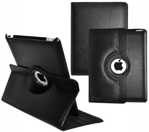 Ionic Rotating Stand Leather Case for iPad Air
