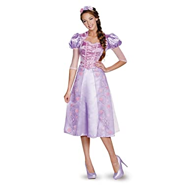3207ec785 Disguise Women's Rapunzel Deluxe Adult Costume, Purple, Medium