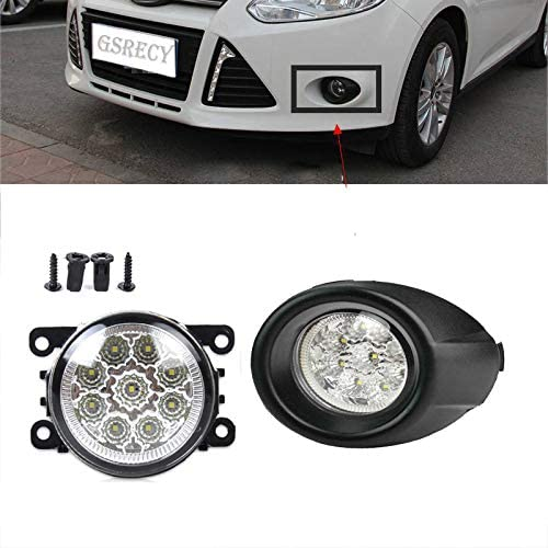 Driving Fog Light Kits w// Bezel Covers LED For Ford Fiesta 2013-2015