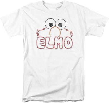 Sesame Street ELMO IRON ON Licensed Adult T-Shirt All Sizes