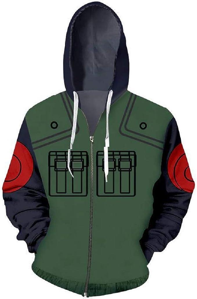 Amazon.com: Naruto Kakashi Copy Ninja Vest Hoodie Sweatshirt ...