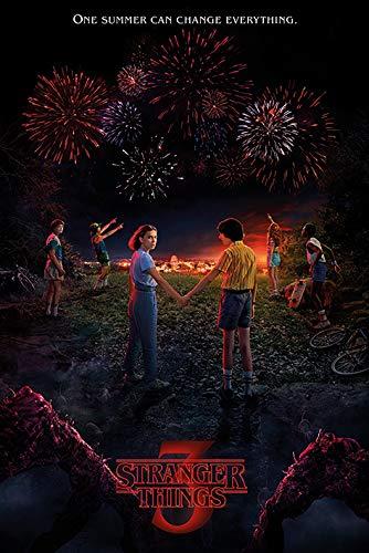 Stranger Things 3 - TV Show Poster (Season 3 - Regular Style) (Size: 24 inches x 36 inches) (Regular Poster Show)