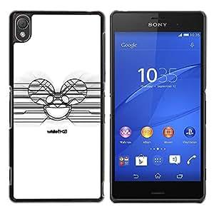 iKiki Tech / Estuche rígido - Deadmaus Blanca - Sony Xperia Z3