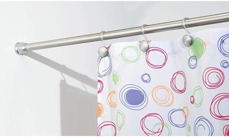 Barra para ducha extensible con tecnolog/ía Constant Tension Soporte de cortina de ba/ño con f/ácil montaje,120to240cm Barra para cortinas de ba/ño sin taladro