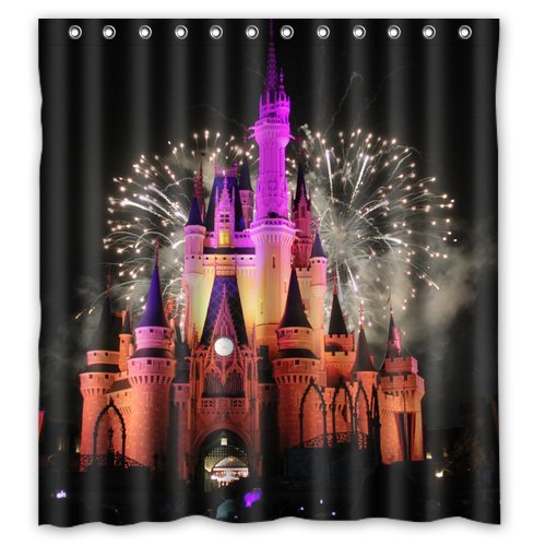 Fireworks Amazing Castle Custom Create Design Your Own Waterproof Shower Curtain Bathroom Curtains Bath 66x72