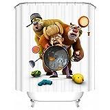 dark grey curtains uk Boonie Bears Fabric Shower Curtain For Kids - 72