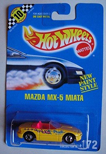 HOT WHEELS YELLOW MAZDA MX-5 MIATA #172 ALL BLUE CARD ()
