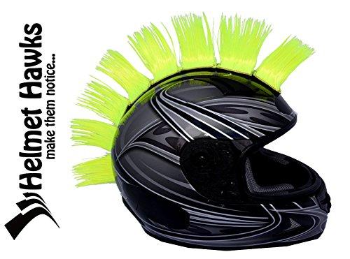 (Helmet Hawks Motorcycle, Ski or Snowboard Helmet Mohawk w/Sticky Hook and Loop Fastener Adhesive (8) Hair Patches 2