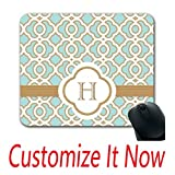 design your own mouse pad - Custom Made White Mouse Pad Eggshell Blue And Gold Moroccan Monogrammed Mouse Pad Design Your Own Wrist Mouse Pad Create My Own Wooden Mouse Pad