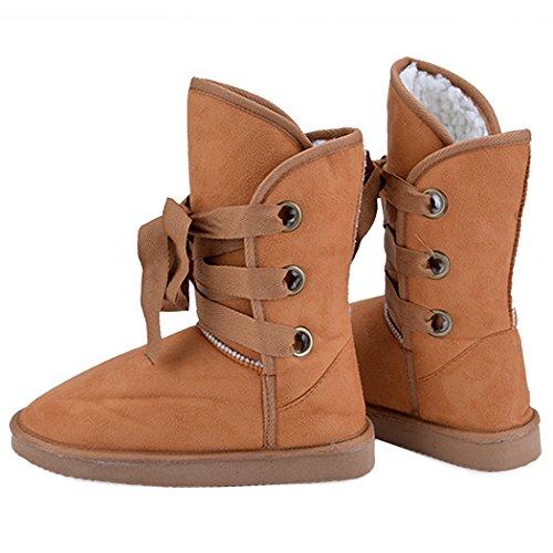 Bottine Chaussure de neige 5 couleurs Chaussure en fausse fourrure de neige NFU5wh0