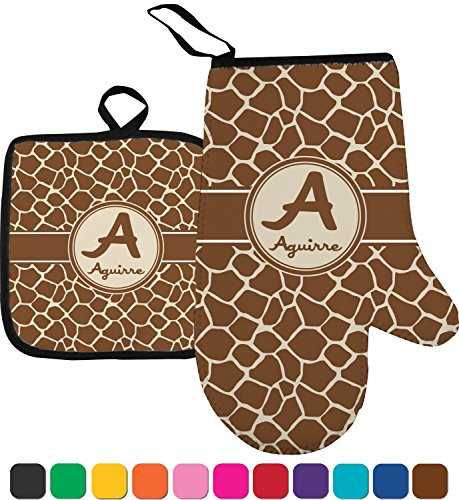 RNK Shops Giraffe Print Oven Mitt & Pot Holder (Personalized) by RNK Shops