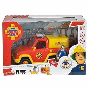Sam El Bombero - Vehículo Venus con Figura, Color Rojo (Simba 9257656)