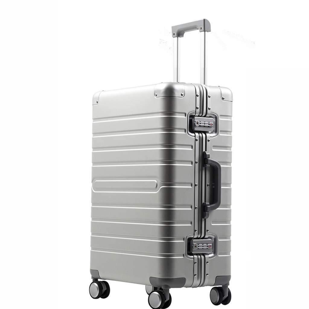 オールアルミマグネシウム合金レトロスタイルスーツケースアルミフレームスーツケース20inch、24inch、29inch (色 : Gray, サイズ さいず : 20INCH) 20INCH Gray B07LBK6SNL