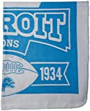 NFL Detroit Lions Marque Printed Fleece Throw, 50-inch by 60-inch