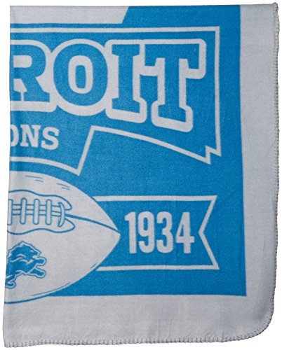 "The Northwest Company 1NFL/03102/0082/AMZ NFL Detroit Lions Marque Printed Fleece Throw, 50"" x 60"", Detroit Lions, 50 x 60"
