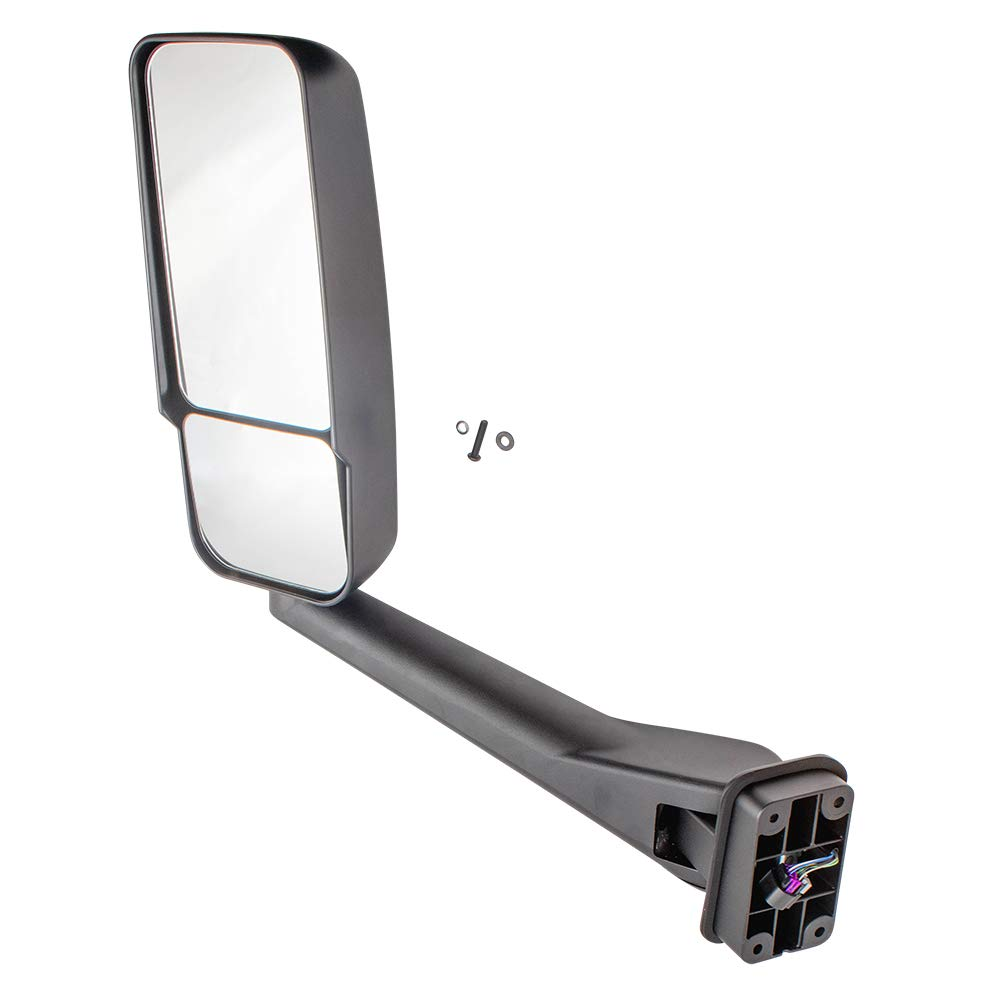 Brock Manual Side View Mirror Drivers Heated Paint to Match Assembly fits 03-09 Chevrolet Kodiak GMC Topkick Truck replaces 25886109 25866112