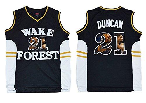 best website 8e96e 1b9a0 WEENKS Men's Tim Duncan 21 Wake Forest Demon Deacons College ...