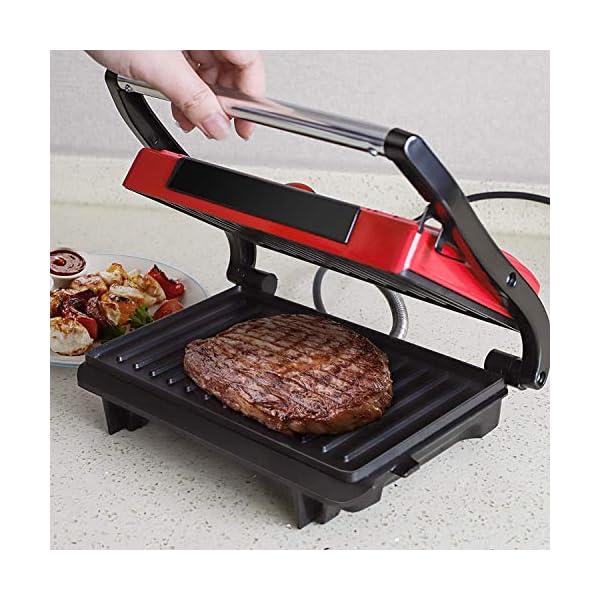 Aigostar Warme 30HHH - Panini Maker/Griglia, Pressa a sandwich, Griglia elettrica, 700 Watt, Fredda al tocco… 7