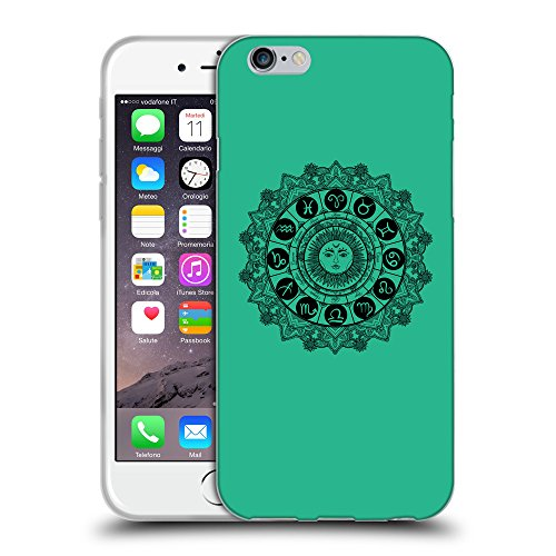 "GoGoMobile Coque de Protection TPU Silicone Case pour // Q08610626 Zodiac 1 Caraïbes Vert // Apple iPhone 6 4.7"""