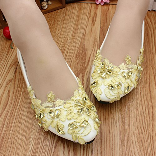 Customize Banquet 5cm Dress Heel Yellow Height Wedding Shoes Bridesmaid 4 Women's amp; Party Lace Si Rhinestones Decals Spring Handmade And Summer Bride q6pTwaWn