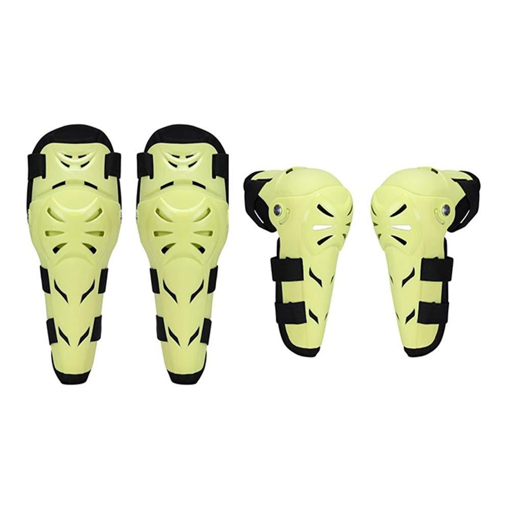 OLDF 膝パッド 肘パッド 4点セット 可動継手 ローラースケート スケート スケート スケート 男女兼用 キッズプロテクター  Green B07G4HZTWL