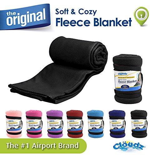 Cloudz Fleece Travel Blanket - Black