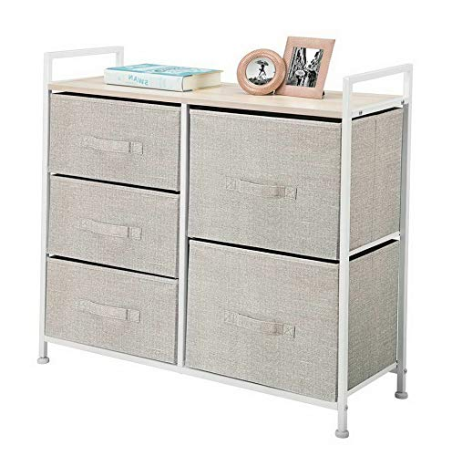 Hebel Wide Dresser Storage Tower Organizer Unit, 5 Drawers | Model DRSSR - 397 |