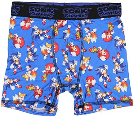 Fashion Sonic The Hedgehog Action Underwear 3 Pack Boxer Briefs
