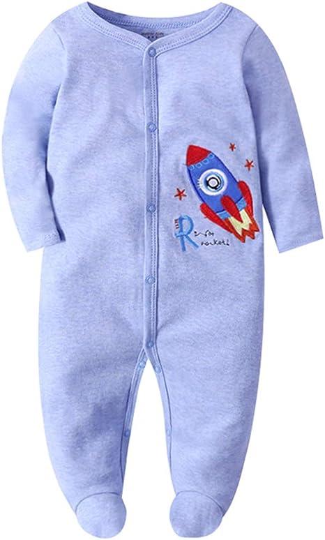 Recién nacido Bebé Pijama de Algodón Mameluco Niños Pelele Mono ...
