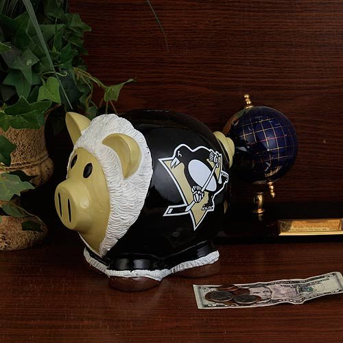 NHL Pittsburgh Penguins Resin Thematic Piggy Bank, Large